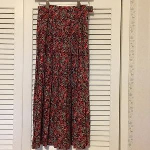 Vintage floral pleated skirt by Laura Ashley